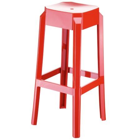 Rode barkruk 'LENO' uit kunststof