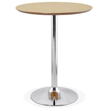 Staantafel / hoge tafel 'LIMA' met natuurlijk houten afwerking - Ø 90 cm