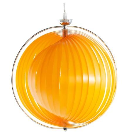Bolvormige design hanglamp 'LISA' met flexibele oranje lamellen