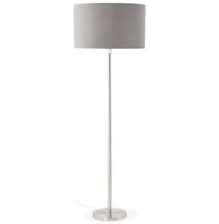 Grijze, in de hoogte regelbare, design staande lamp 'LIVING BIG'