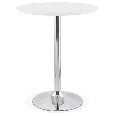Staantafel / hoge tafel 'LIMA' wit - Ø 90 cm