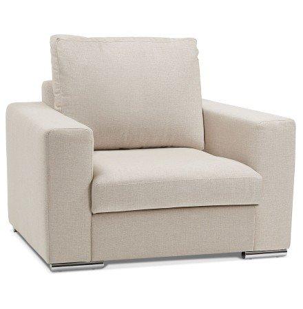 Fauteuil 1 zitplaats LUCA MINI van beige stof - Alterego België