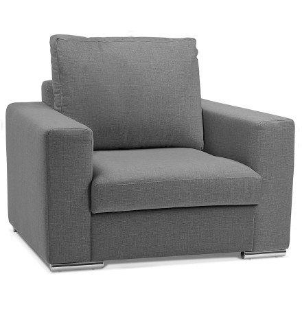 Fauteuil 1 zitplaats 'LUCA MINI' van donkergrijze stof