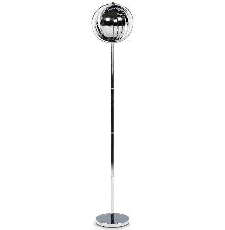Chroom design lamp 'LUNA' met flexibele stalen lamellen