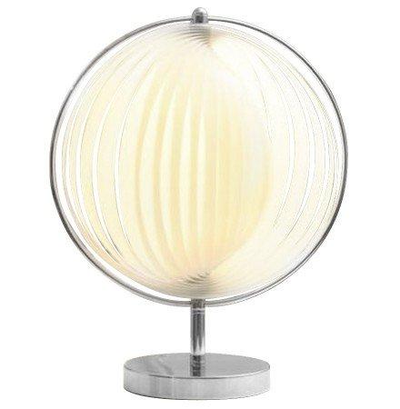 Tafellamp 'LUNA' met witte plastic lamellen