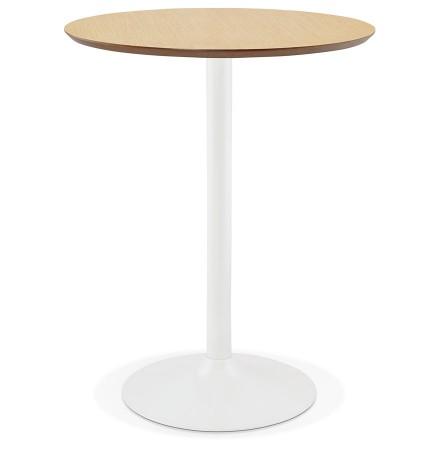 Staantafel / hoge tafel 'MADISON' met natuurlijk houten afwerking - Ø 90 cm