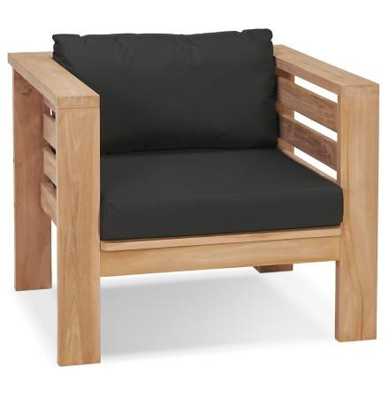 Fauteuil 1 place intérieur/extérieur 'MALO' en bois Teck naturel
