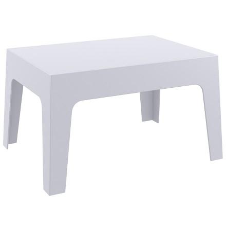 Lage, lichtgrijze tafel 'MARTO' uit kunststof