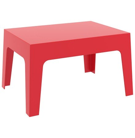 Lage, rode tafel 'MARTO' uit kunststof