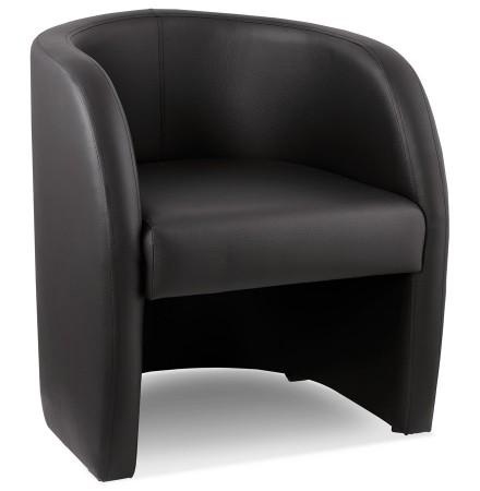 Fauteuil voor de woonkamer 1 zitplaats 'MAX' in zwart synthetisch materiaal