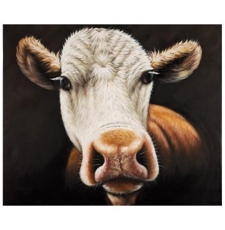 Design schilderij 'MEUUUH', volledig met de hand geschilderd, 100x120cm