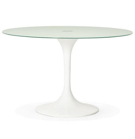 Ronde witte design eettafel ALEXIA - Alterego