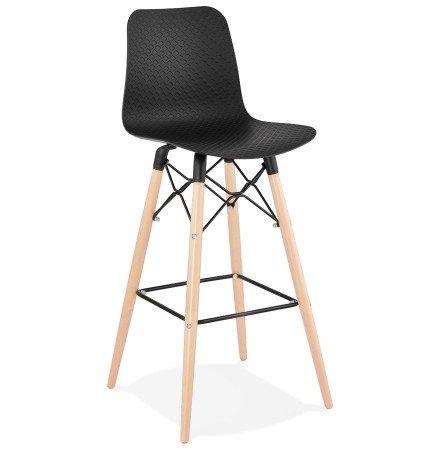 Design barkruk 'MOZAIK' zwart Scandinavische stijl