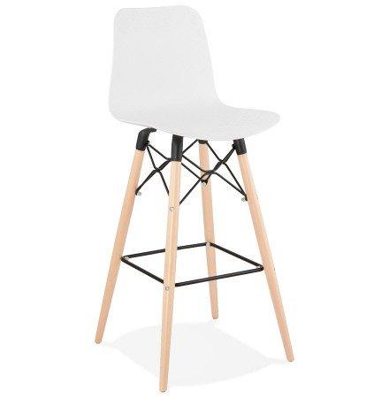 Design barkruk 'MOZAIK' wit Scandinavische stijl