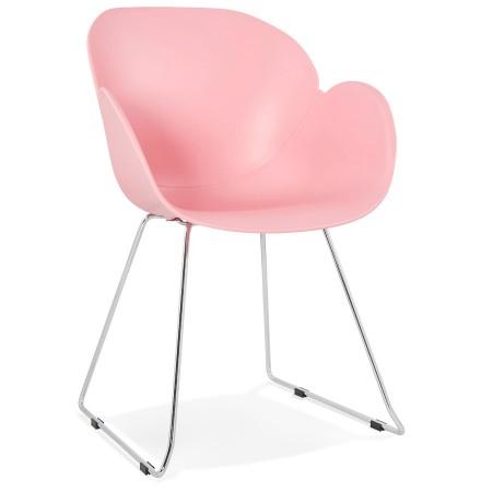Design stoel 'NEGO' roze van kunststof