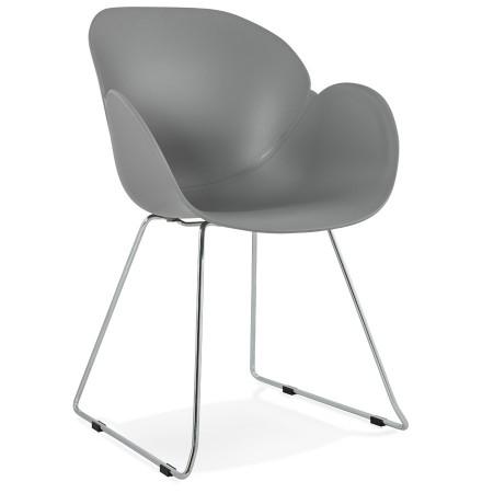 Moderne stoel 'NEGO' grijs van kunststof