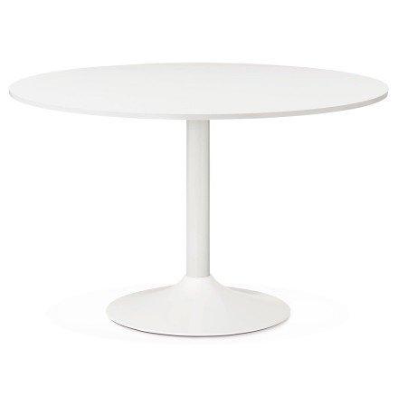 Ronde, witte bureau-/eettafel ORLANDO 120 cm - Foto 1