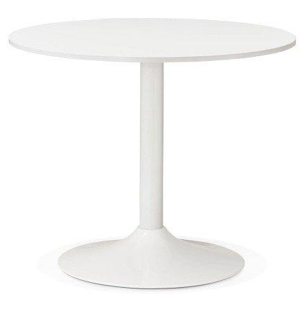 Kleine, ronde, witte bureau-/eettafel ORLANDO 90 cm - Foto 1