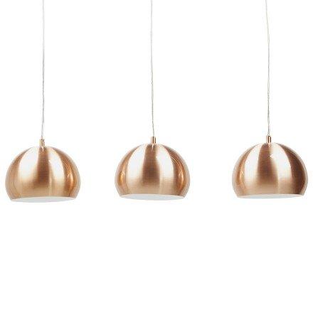 Hanglamp 'PENDUL' met drie koperkleurige bollen