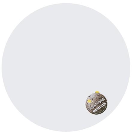 Wit, rond tafelbad 'PLANO' Ø 68cm uit gecompresseerd hars