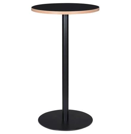 Zwarte ronde statafel 'POLLUX ROUND' - Ø 60 cm