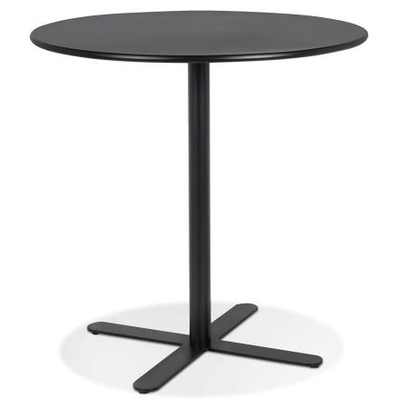 Zwart rond tafeltje 'RITMO' - Ø 60 cm