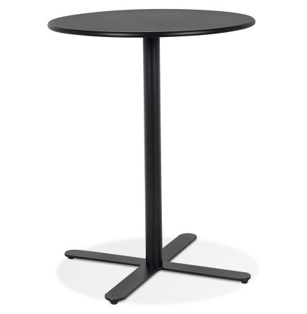 Design zwart rond tafel 'RITMO' - Ø 76 cm