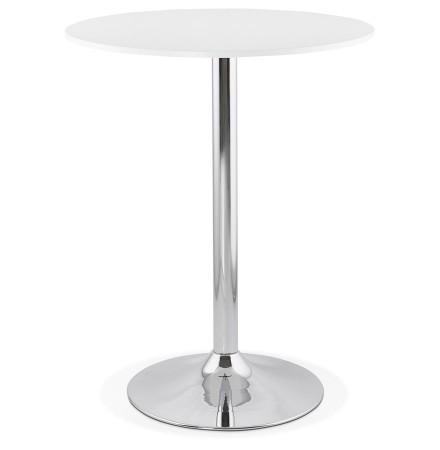 Staantafel / hoge tafel 'SANTIAGO' wit - Ø 90 cm