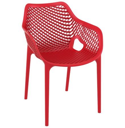 Rode kunststof 'SISTER' tuin- / terrasstoel