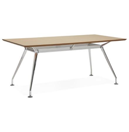 Grand bureau / table de réunion 'STATION' en bois finition naturelle - 180x90 cm