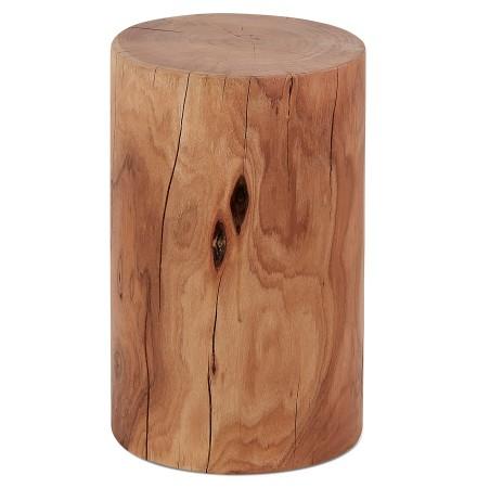 Bijzettafel / Boomstamkrukje 'STOLY' van natuurlijk afgewerkt massief hout