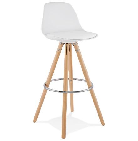 Moderne Witte Barstoelen.Design Barkruk Tatami Wit
