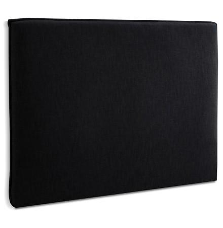 Zwarte stoffen hoofdeinde 'TIESTO' - breedte 160 cm