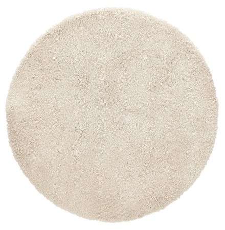 Beige rond design tapijt 'TISSO' beige - Ø 200 cm