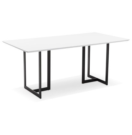 Eettafel / design bureau TITUS van wit hout - 180x90 cm - Foto 2