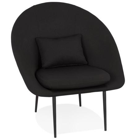 Design loungefauteuil 'TOTEM' in zwarte stof