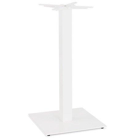 TOWER' 110 vierkante tafelvoet in wit metaal binnen/buiten