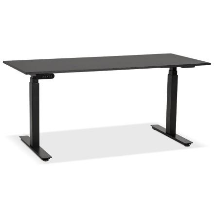 Zwarte elektrische en ergonomische bureau 'TRONIK' - 160x80 cm