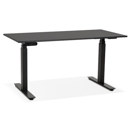 Zwarte elektrische zit/sta-bureau 'TRONIK' - 140x70 cm