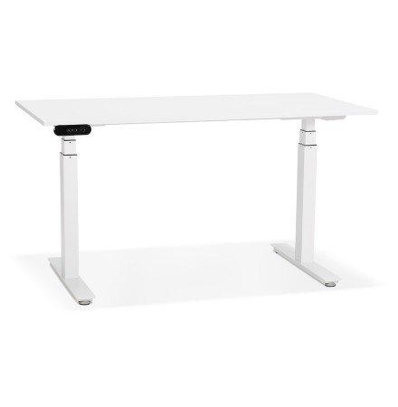 Witte elektrische zit/sta-bureau 'TRONIK' - 140x70 cm