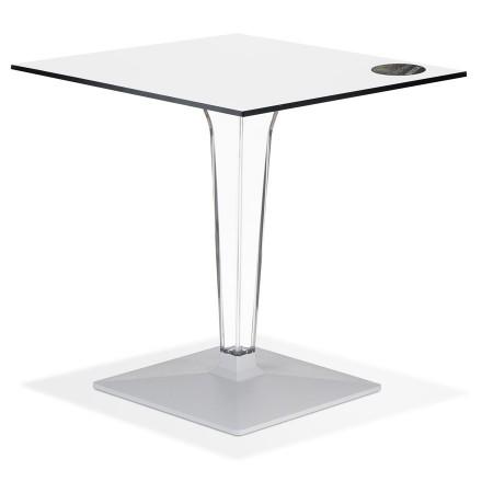 Witte vierkante terrastafel 'VOCLUZ' voor binnen/buiten - 68x68 cm