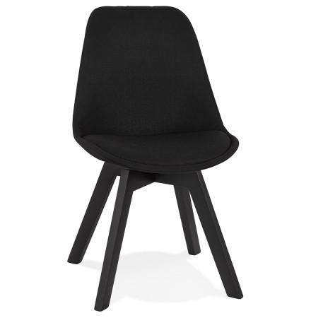 Moderne 'WILLY' stoel van zwarte stof en hout