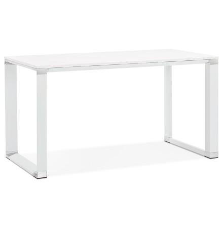 Klein recht directiebureau 'XLINE' in wit hout - 140x70 cm