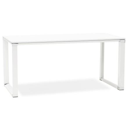 Design recht directiebureau 'XLINE' van wit hout - 160x80 cm
