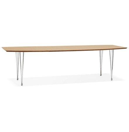 Uitschuifbare eettafel / vergadertafel 'XTEND' van hout met natuurlijke afwerking - 170(270)x100 cm