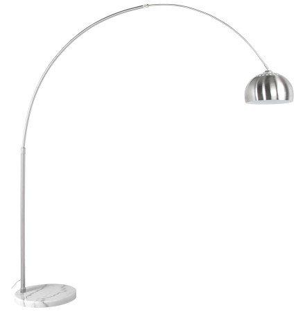 Boogvormige design lamp 'XXL' uit geborsteld staal in retro jaren '70-stijl
