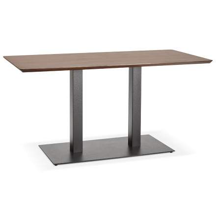 Design tafel / bureau 'ZUMBA' met notenhouten afwerking - 150x70 cm