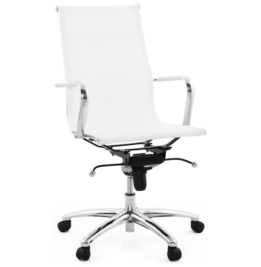 Moderne witte bureaustoel air design stoel for Bureau stoel