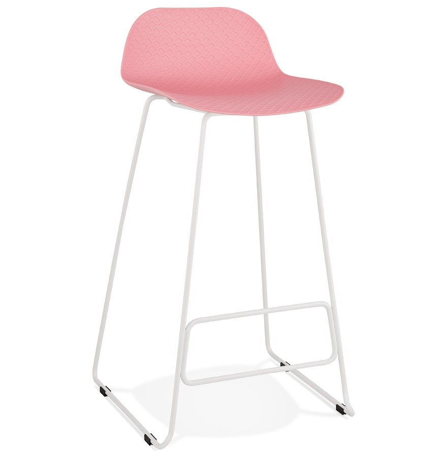 Stoere Witte Kruk.Met Roze Design Voet Barkruk Witte Kruk Babylos Nkx0opw8