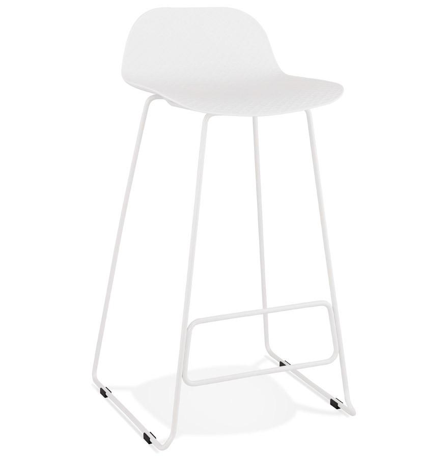 Moderne Witte Barstoelen.Barkruk Babylos Wit Design Kruk